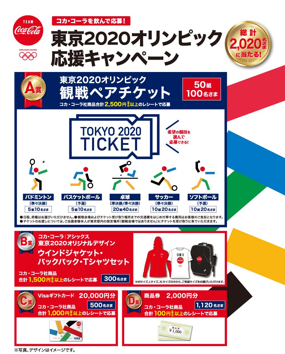 東京2020オリンピック応援キャンペーン 総計2020名さまに当たる