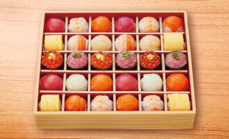 彩りファミリー手まり寿司