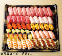 三種本まぐろ食べ比べの贅沢握り寿司 ※写真はイメージです。