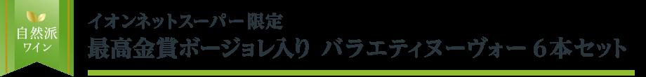 【自然派ワイン】イオンネットスーパー限定 最高金賞入り バラエティヌーヴォー6本セット