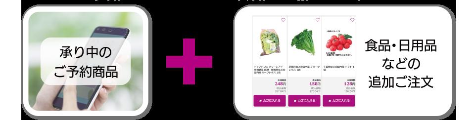 承り中のご予約商品+食品・日用品などの追加ご注文