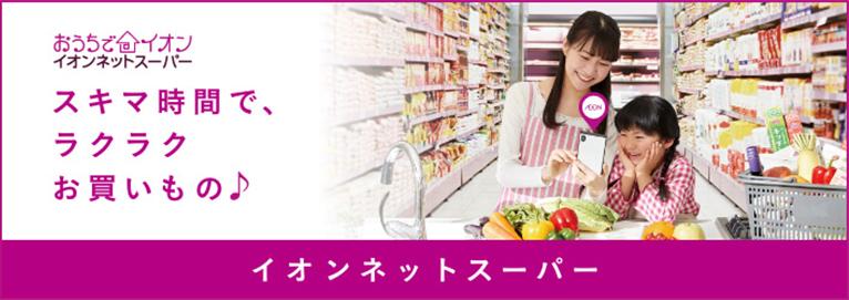 おうちでイオン イオンネットスーパー スキマ時間で、ラクラクお買い物♪