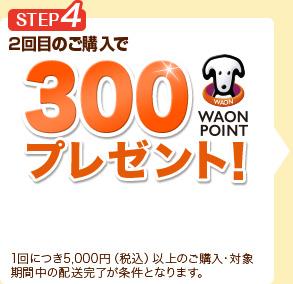 STEP4 2回目のご購入で300WAON POINTプレゼント!
